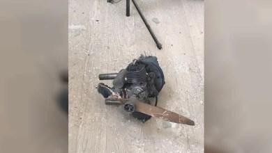 صورة وكالة أنباء الإمارات – سقوط طائرة حوثية مفخخة على مدرسة بمنطقة عسير في السعودية