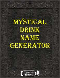 Cover for Mystical Drink Name Generator