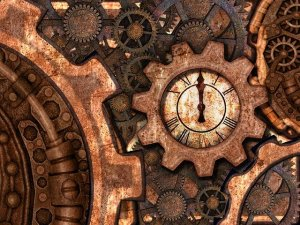 Steampunk Gears Pipes Brass Door  - Prettysleepy / Pixabay