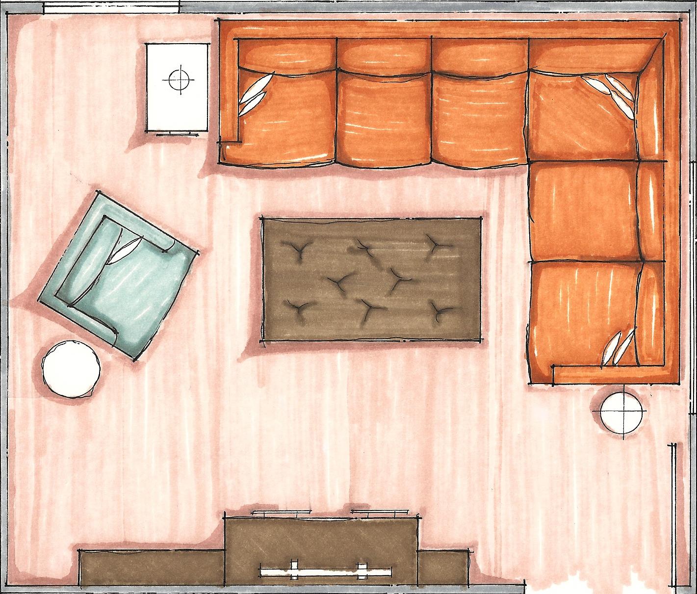 Rec Room Floor Plan Sketch