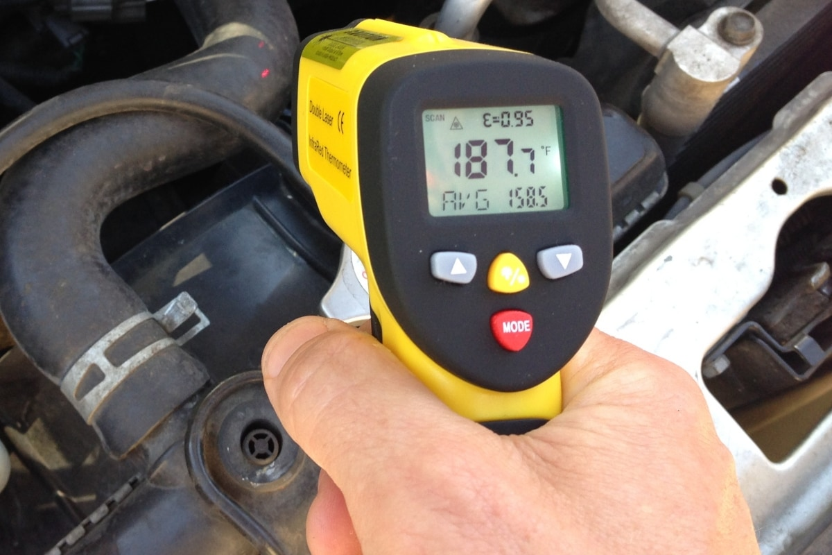 Automotive Diagnostics Using An Infrared Thermometer