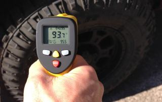 automotive infrared thermometer: measuring truck tire temperature with eT650D temperature gun