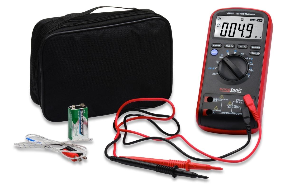 eM860T TRMS Digital Multimeter with case