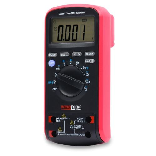 eM860T True RMS Digital-Multimeter angled backlight off