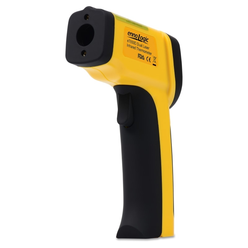 eT650D infrared thermometer barrel view