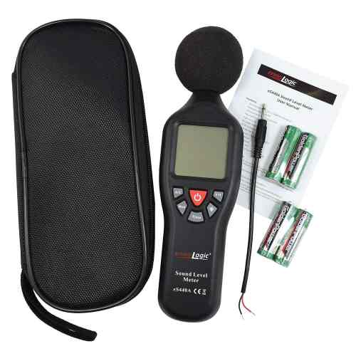 Sound Level Decibel Meter eS440A package contents