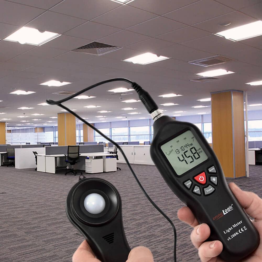 measuring office lighting with ennoLogic light meter eL200K
