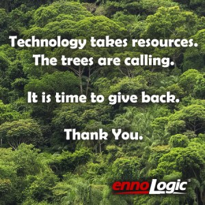 ennoLogic customers planted over 5000 trees in 2017 with TreeSisters.org