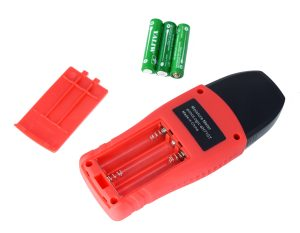 eH710T Moisture Meter open battery compartment