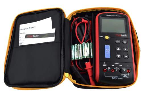eC380V Volt mA calibrator in carrying case
