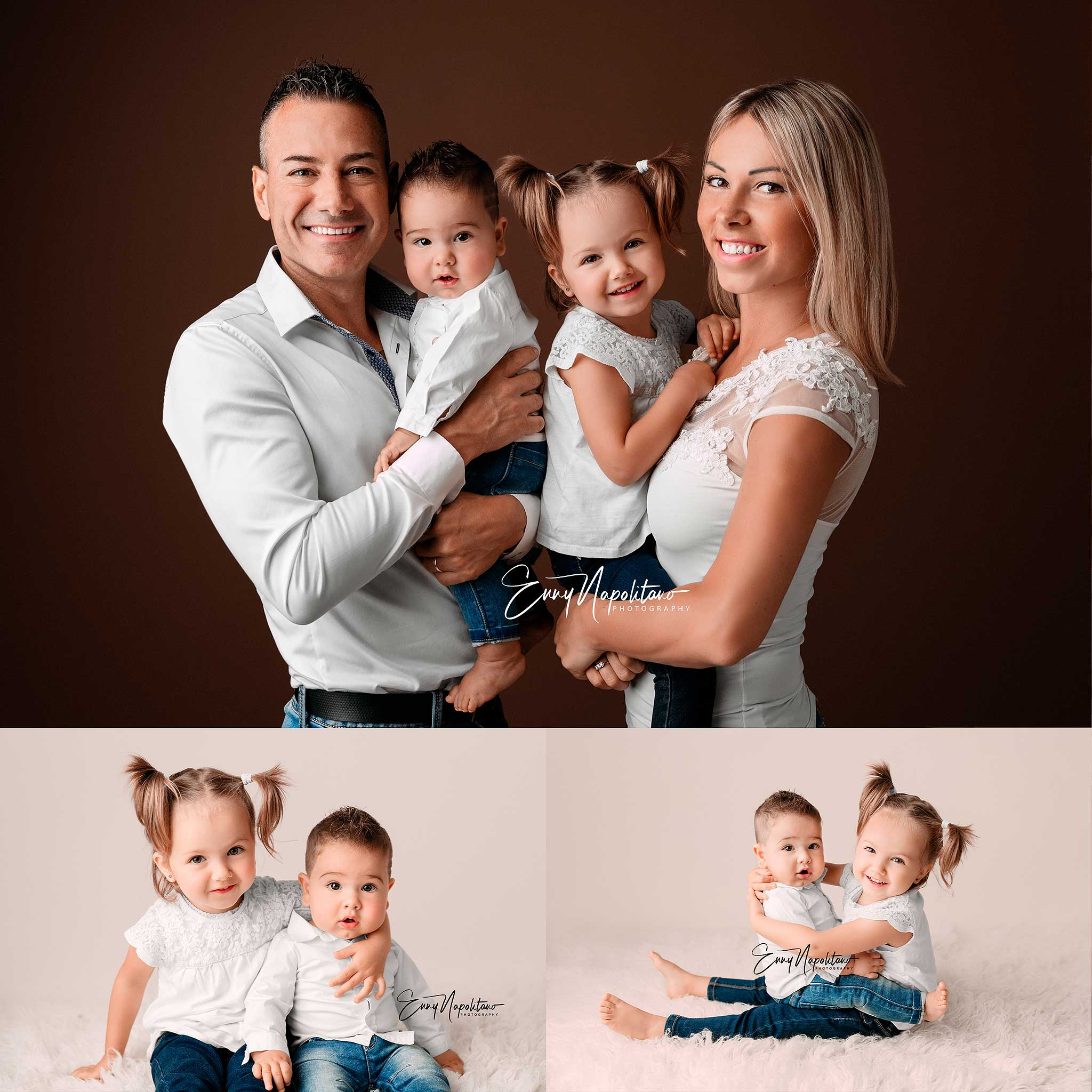 Fotografie di una famiglia fotografo neonati e bambini Milano