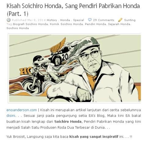 Artikel History Honda