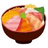 この海鮮丼、粘土で作ったミニチュアなのに飯テロすぎるだろ…!
