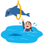 お客さんが全然いない千葉の水族館、イルカショーが超特等席だったw