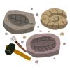 化石の標本箱に「あるお菓子」を入れたら、もはや化石にしか見えなくなったw