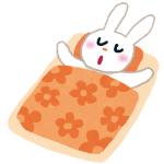 「人間と一緒だ…」 寝ながらビクゥン!! てなっちゃうウサギさん