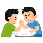 勝った瞬間にファイトマネー。QR決済を使った「腕相撲」が新しすぎるww(中国)