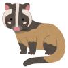 愛知県の動物園にいるハクビシン、あまりにもラブラブである😍