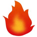 【動画】「本物みたいだ…」東京ソラマチの飲食店前で燃えさかる炎のディスプレイが超リアル!