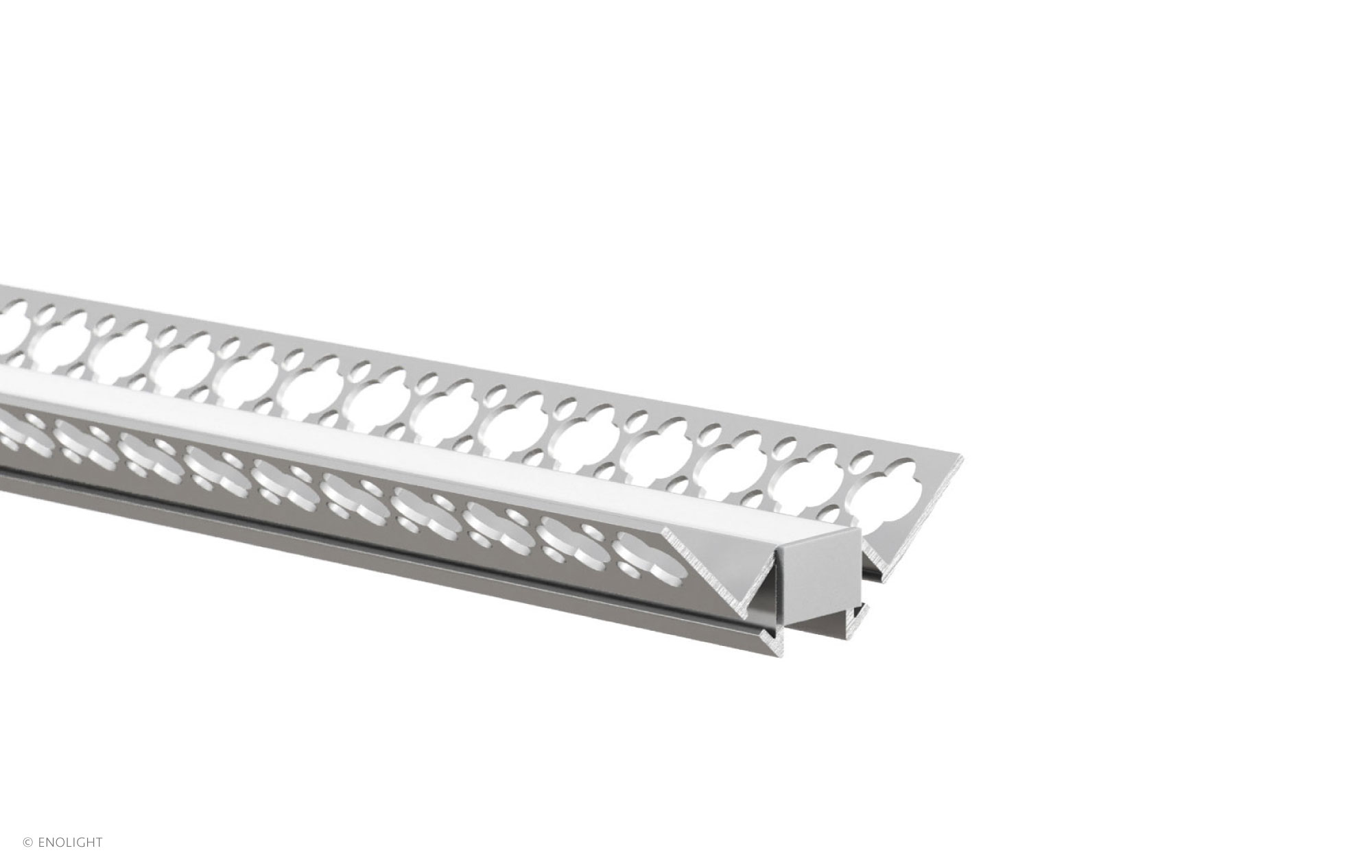 Spk F Recessed Corner Linear Light With Flush Frosted