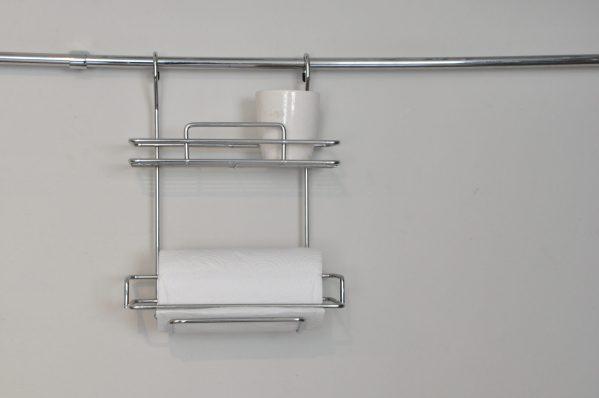 Rack para rollo de cocina con estante