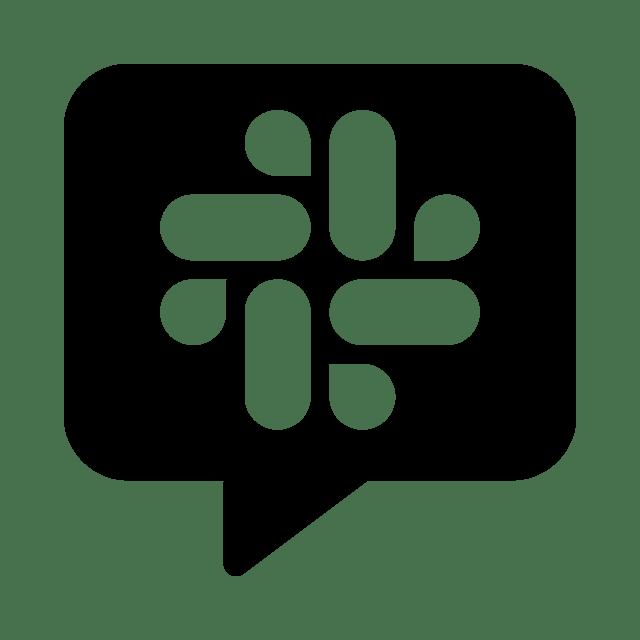 Slack chat icon.
