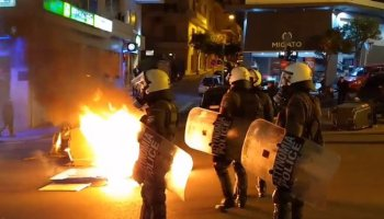#Athens #Greece: Cops Attacked Demo Against Evictions Of #SquatsGR