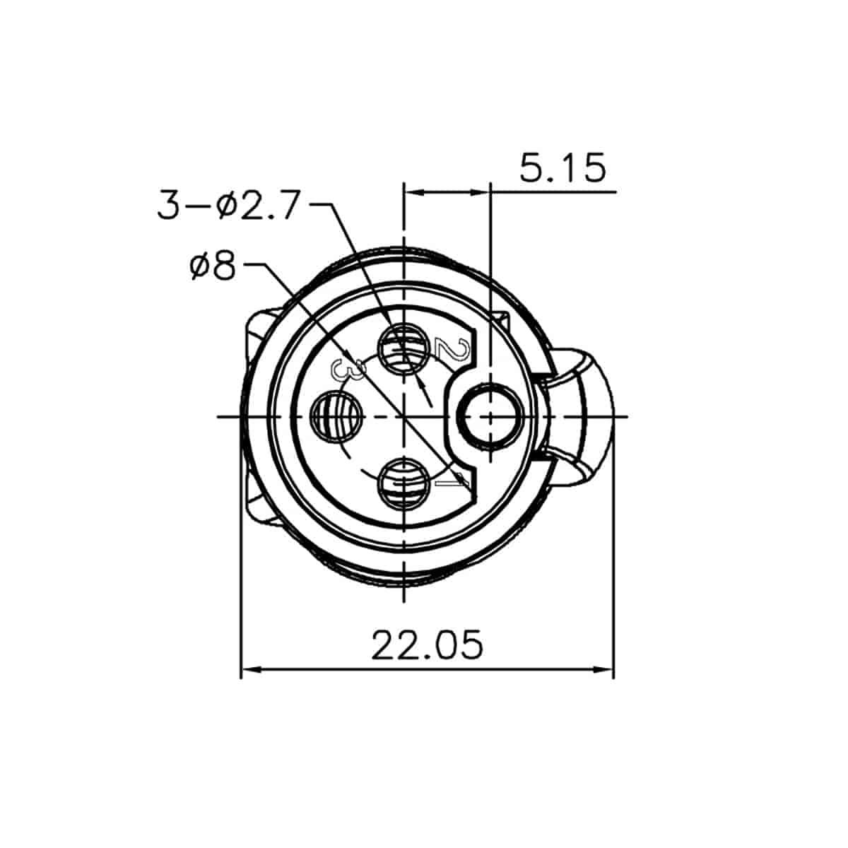Enova Outdoor Xlr Cable Socket Ip67 3 Pol Solder