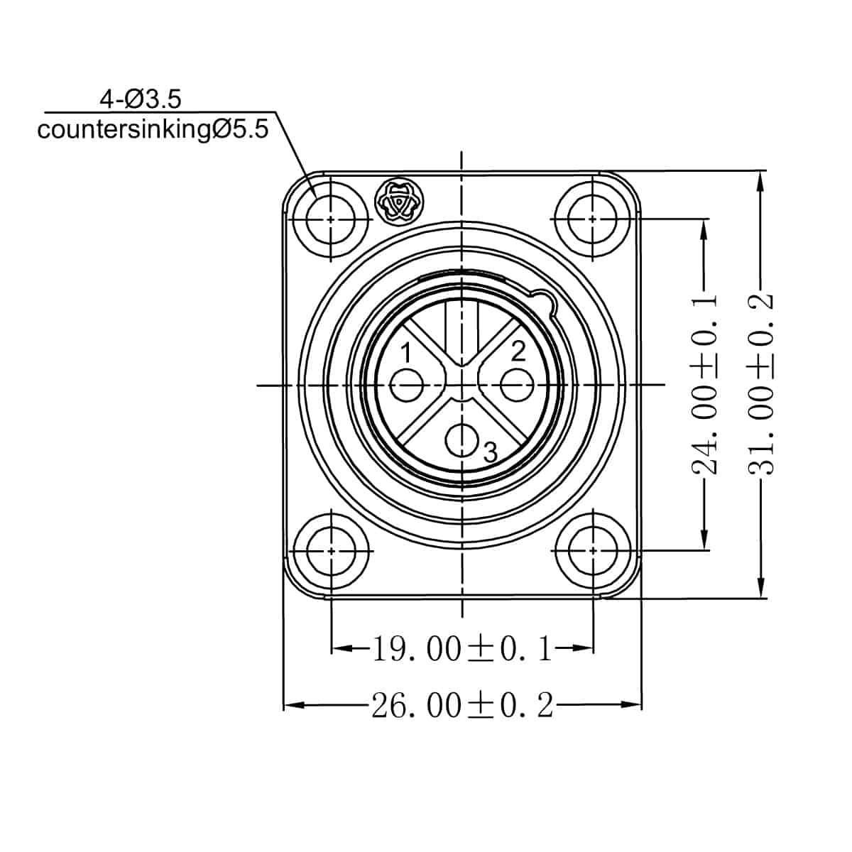 Enova Outdoor Xlr Built In Plug Ip67 3 Pin Solder