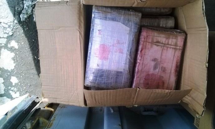 Receita apreendeu mais de 200 kg de cocaína no Porto de Santos na terça-feira (18) (Foto: Divulgação/Receita Federal)