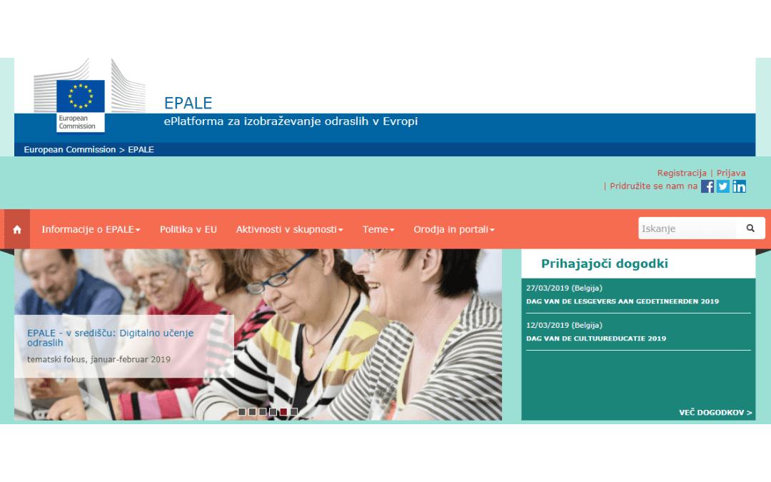 Ustvarite svoj prostor sodelovanja na EPALE