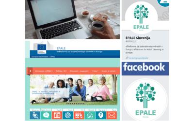 Spremljajte platformo EPALE tudi prek naših družbenih medijev
