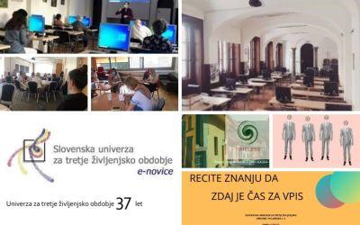 V novi številki e-novic Slovenske univerze za tretje življenjsko obdobje vabijo k vpisu v svoje programe