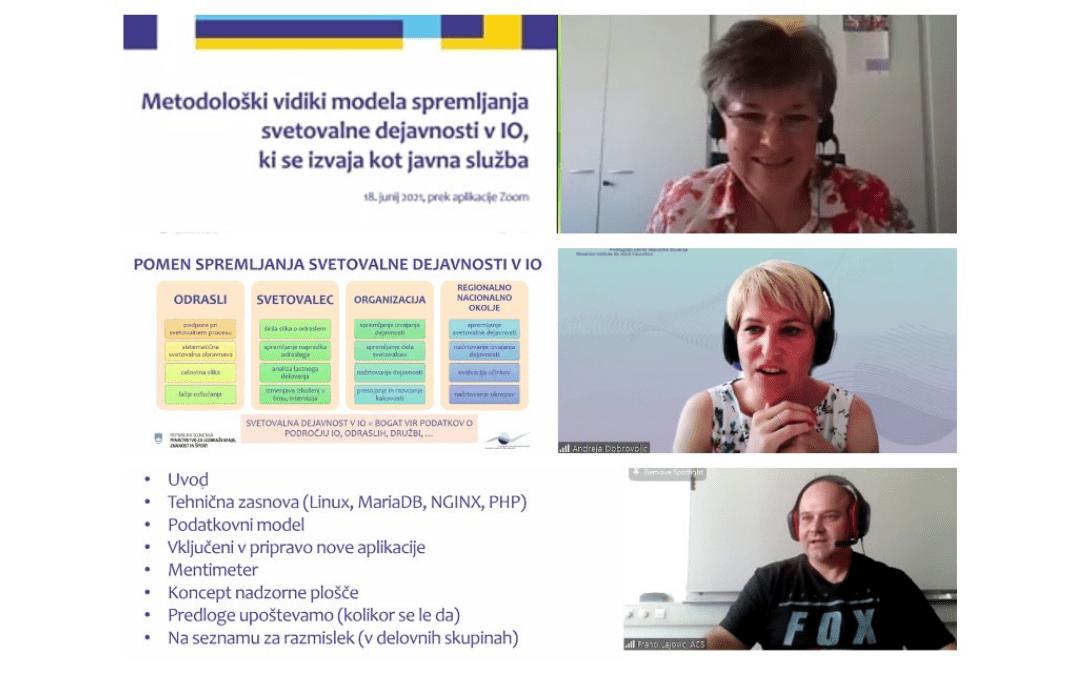 Posvet metodološki vidiki modela spremljanja svetovalne dejavnosti v IO, ki se izvaja kot javna služba