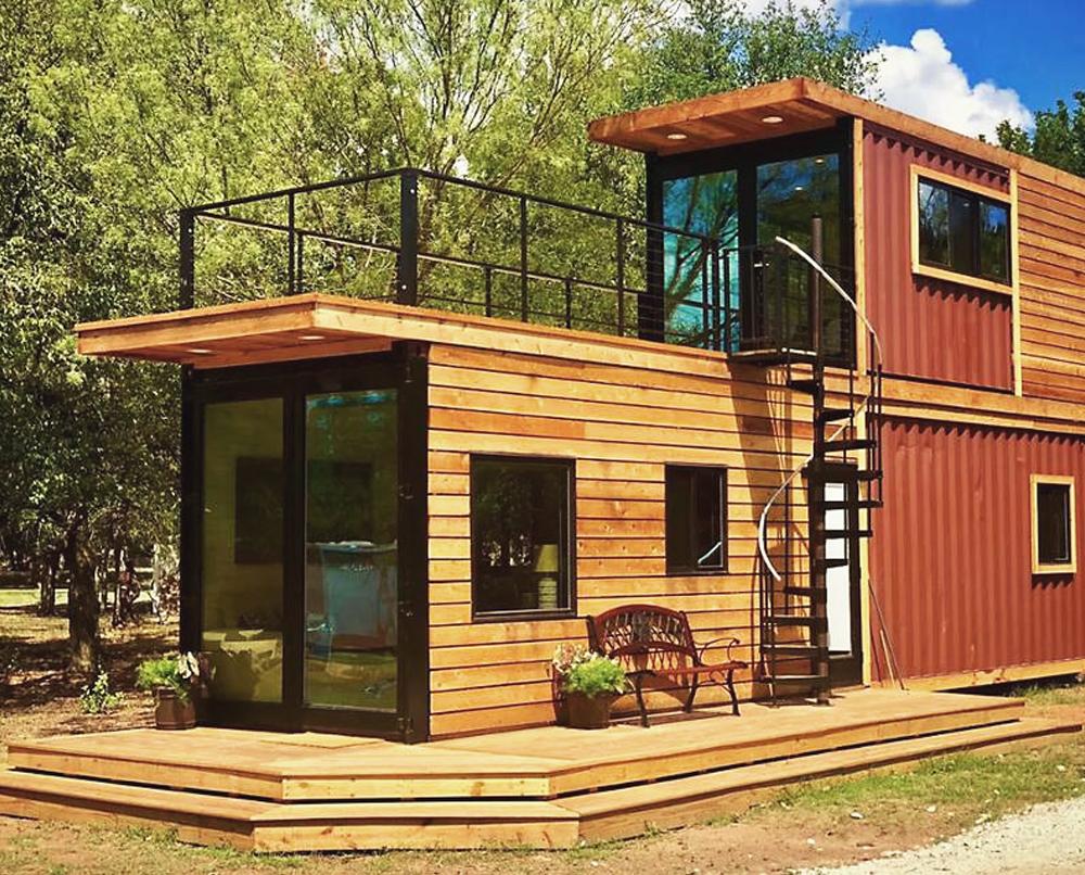 maison construite en container