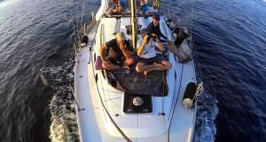 yelkenli gemideki sayım ekibinden bir fotoğraf