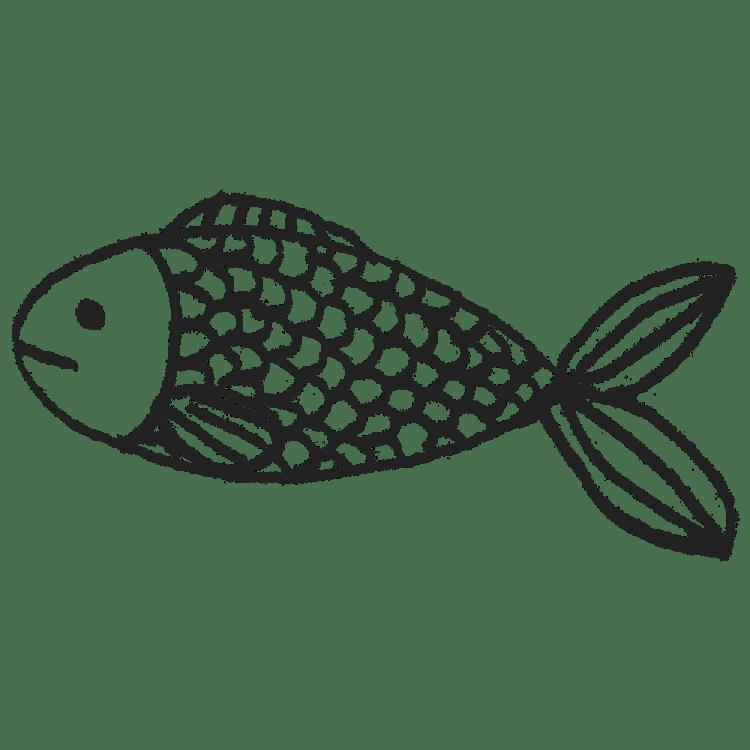 かわいい魚のイラストフリー素材