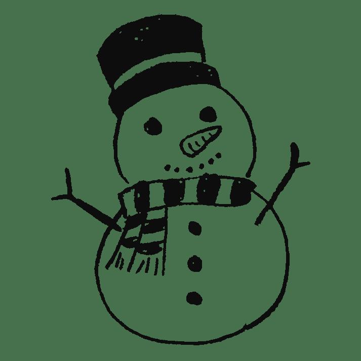可愛い雪だるまのイラストフリー素材