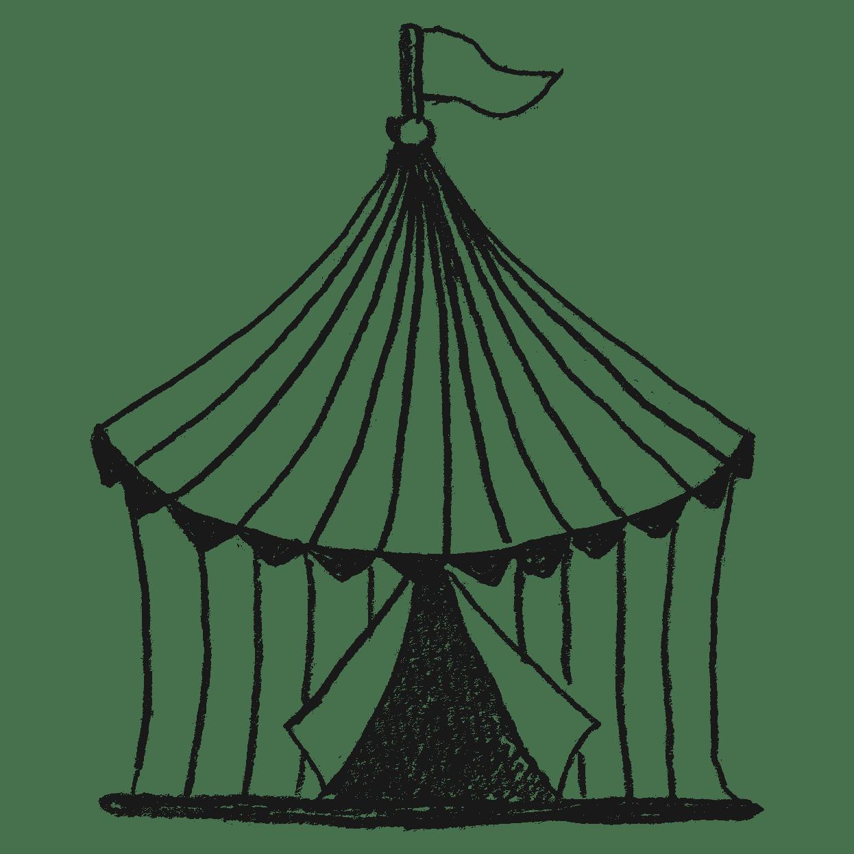 サーカスのテントのイラストフリー素材