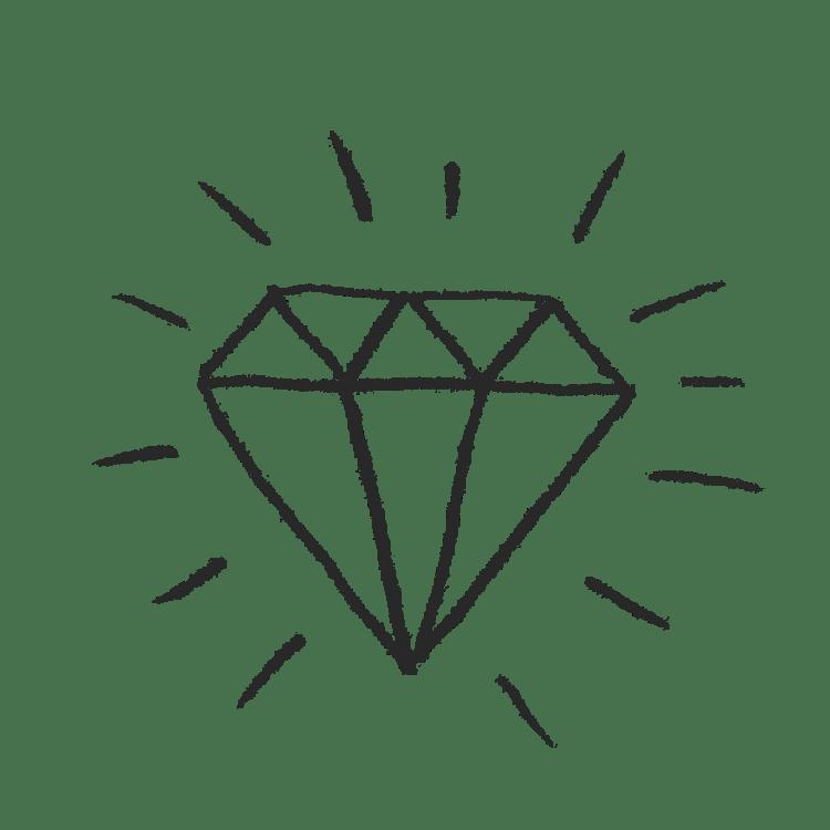 ダイヤモンドのイラストフリー素材