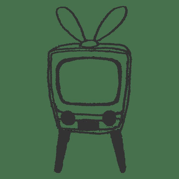 レトロなテレビのイラストフリー素材