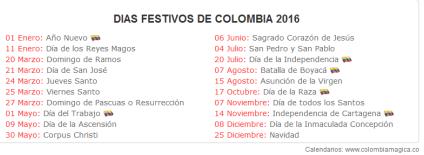 Tomado de: http://www.colombiamagica.co/utilidades/calendario-2016-de-colombia-con-dias-festivos