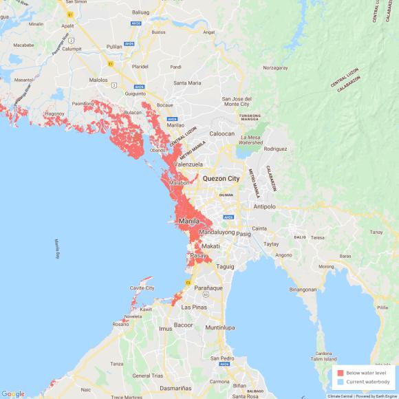 sea level rise metro manila