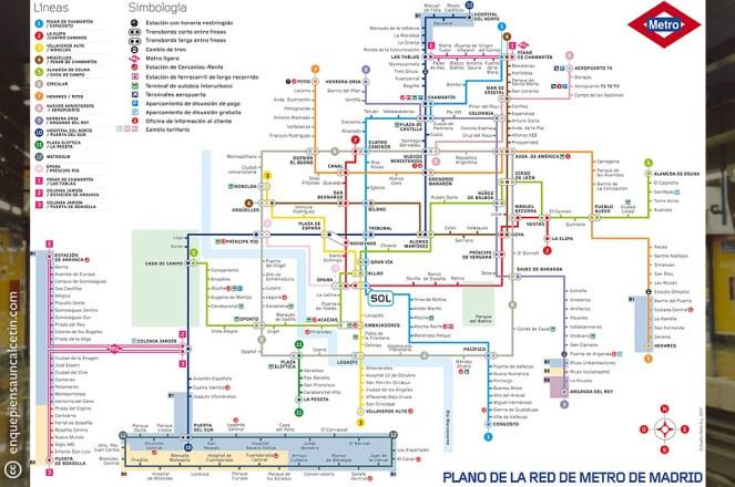 plano metro madrid