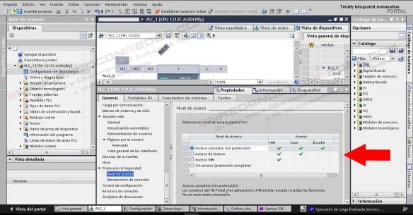 Control de acceso PLC Siemens S7-1200