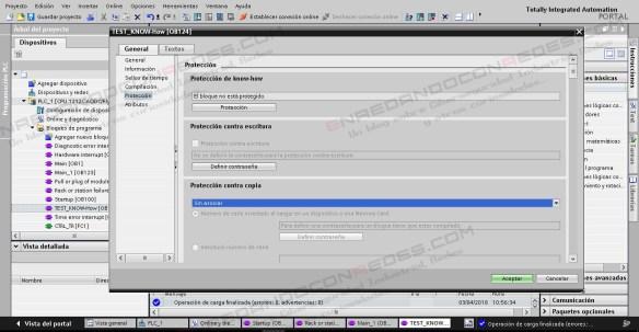 Protección de Know How, cambios y copia en PLC Siemens S7-1200