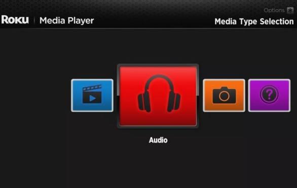 abrir roku media player audio