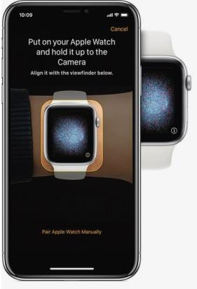 botón i del Apple Watch para emparejar iphone