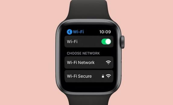 elegir red wifi en apple watch