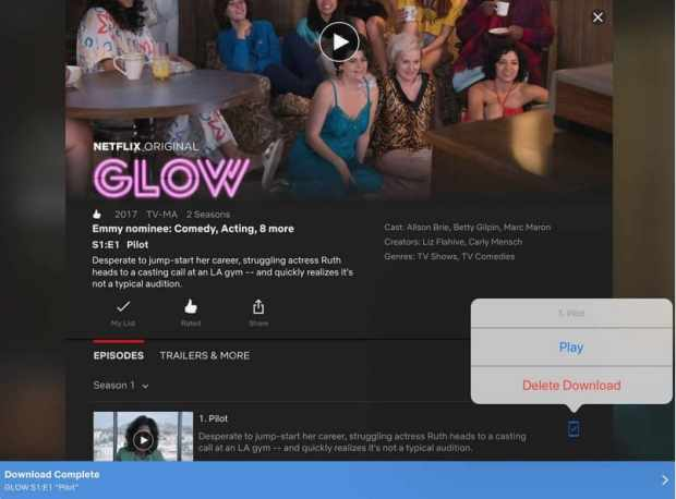 descargar serie de tv de netflix a ipad